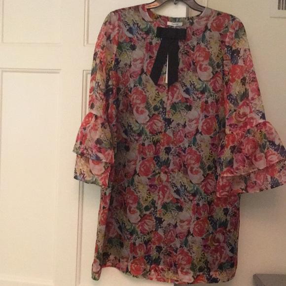 0eede5cc Ganni Dresses | Floral Dress Nwt Size 10 | Poshmark